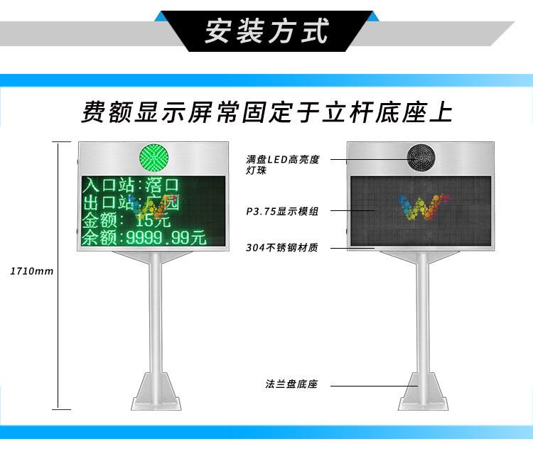 304不锈钢费额显示器安装方式